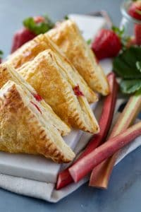 Rhubarb and Strawberry Turnovers