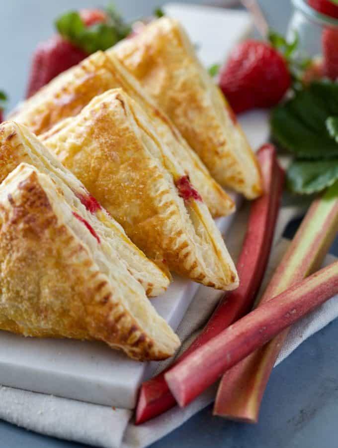Strawberry Rhubarb Turnovers