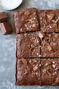 Salted Dark Chocolate Chunk Brownies