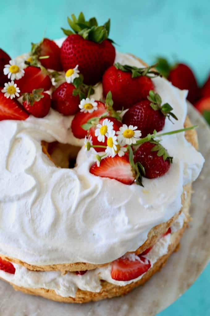 Angel Food Strawberry Bundt