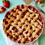 Lattice Strawberry-Rhubarb Pie