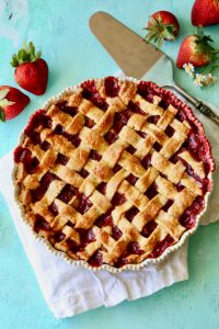 Strawberry Rhubarb Lattice Pie-5