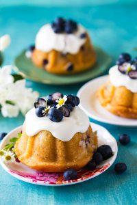 Mini Blueberry Bundt Cakes