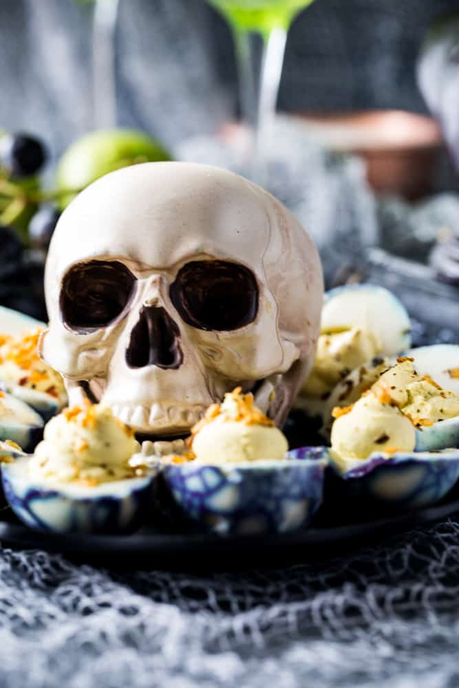Spooky Deviled Eggs