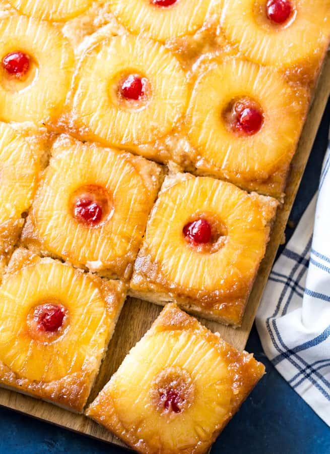 Upside Down Pineapple Sheet Pancakes