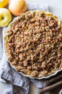 Apple buttermilk pie with oatmeal streusel topping