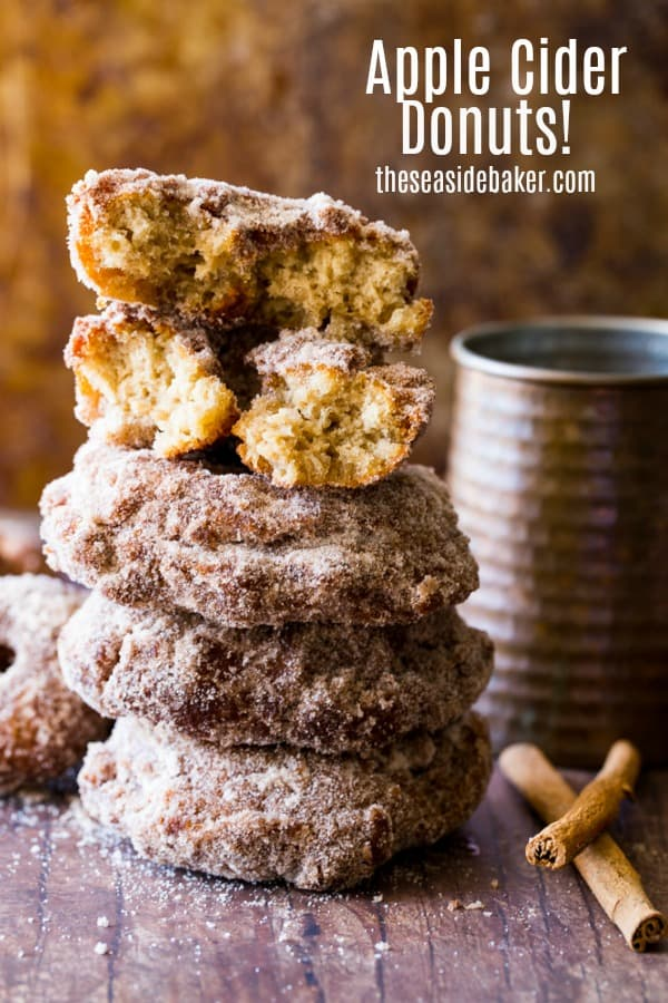 Apple Cider Donuts - the perfect Fall recipe! Plus they're easy and so much fun to make.  There's nothing better than a freshly-made warm donut on a chilly autumn afternoon. | See this and other delicious recipes at TheSeasideBaker.com | #applecider #donutrecipes