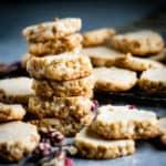 Brown Sugar Walnut Shortbread Cookies