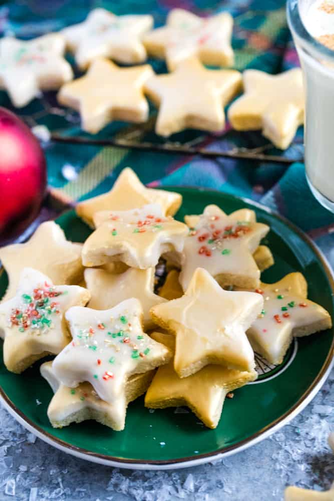 Gluten Free Lemon Almond Star Cookies