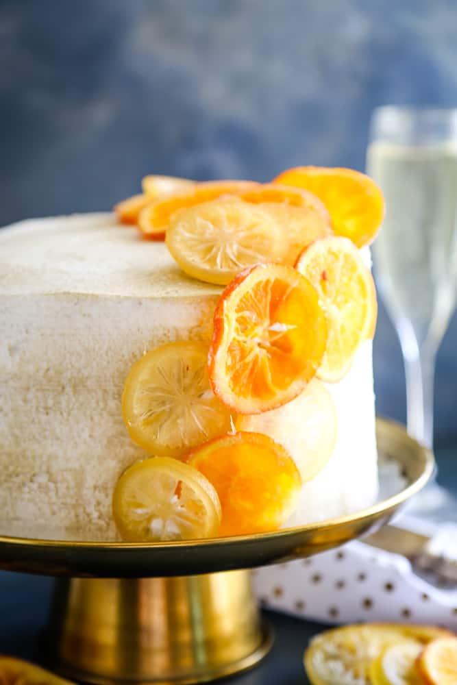 Orange Champagne Cake