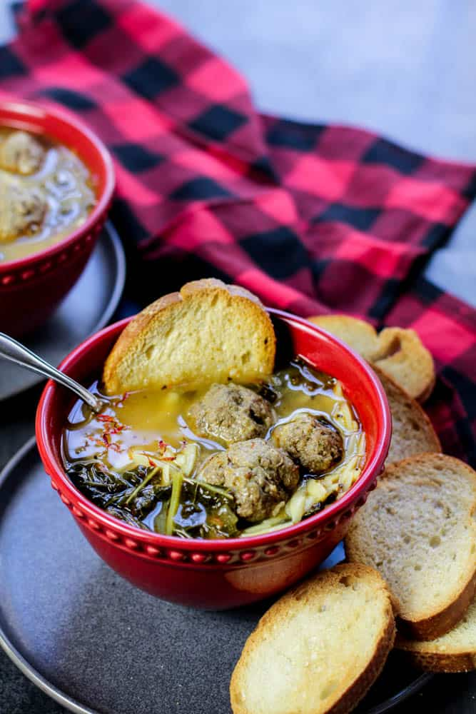 Spanish Meatballs With Saffron Soup