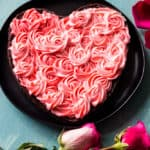 Brownie Heart with Rosettes