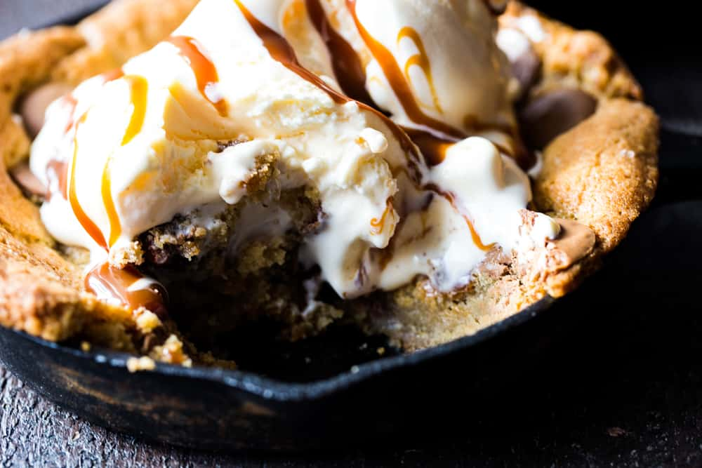 homemade skillet cookies