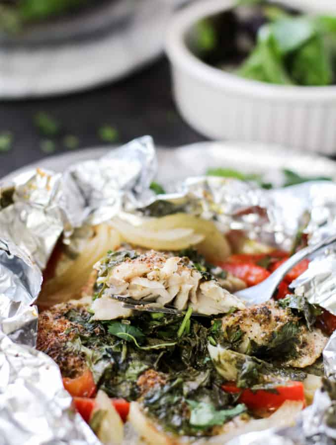 Baked Cilantro Lime Fish Foil Packets