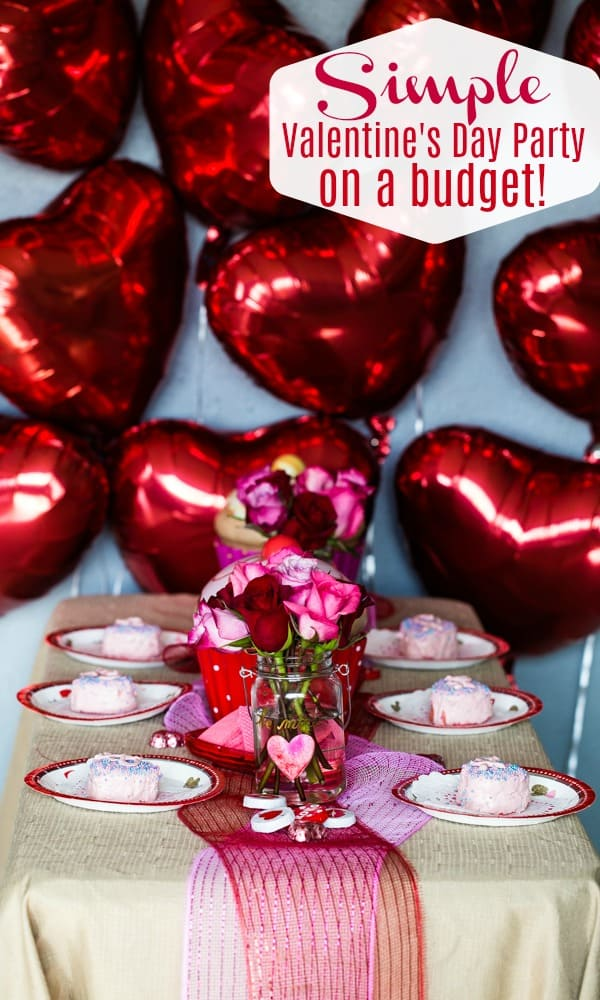 Celebrate Valentine's Day on a budget! With the 99 Cents Only Store, you can find just what you need to throw a perfectly sweet Valentine's Day party! Plus a recipe for decadent mini heart cakes!   #TheSeasideBaker #ValentinesDayParty #ValentinesDay #chocolate #cakerrecipe