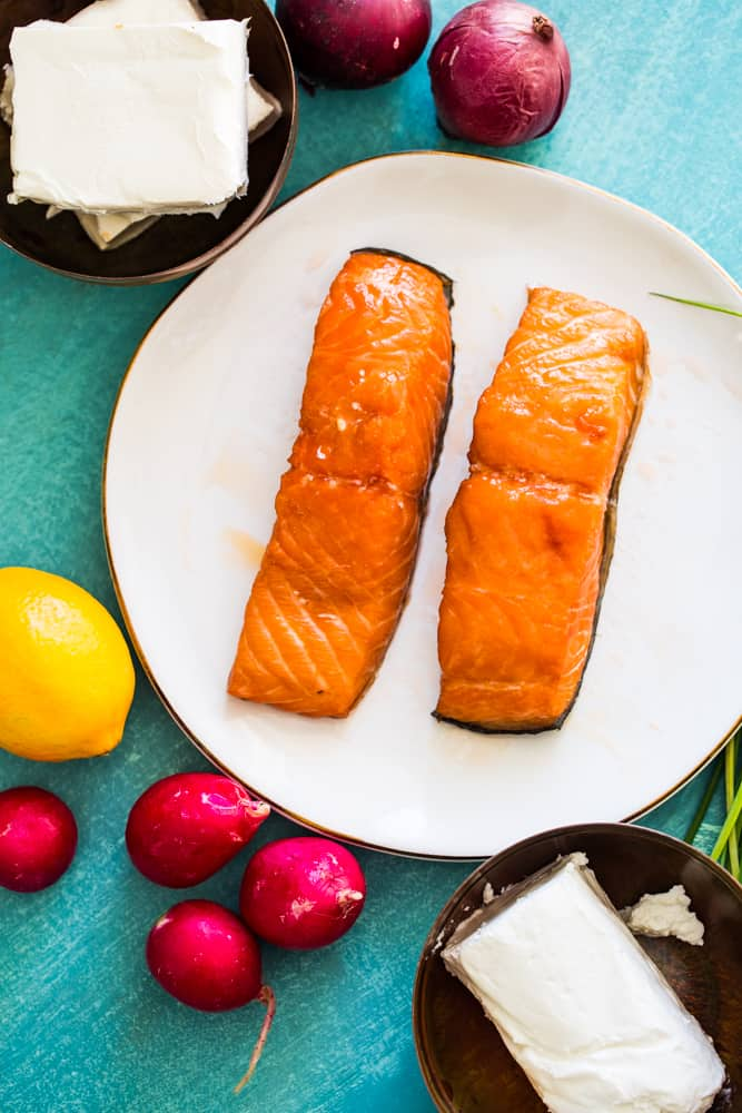 smoked salmon 7 layer dip