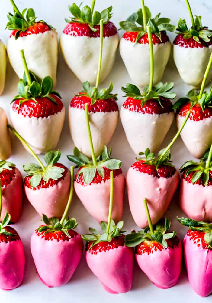White Chocolate Ombre Strawberries