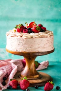 Berry Zebra Cake