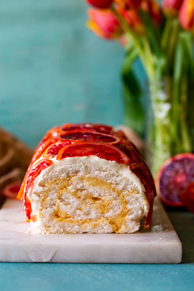 Blood Orange Cake Roll