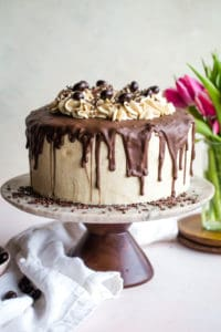 Coffee Layered Cake with Mascarpone Frosting
