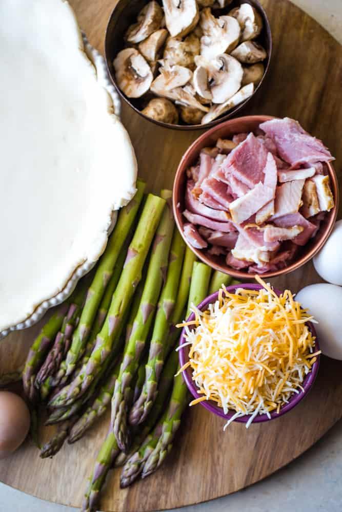 Asparagus Ham Quiche