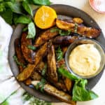 Crispy Pesto Potato Wedges