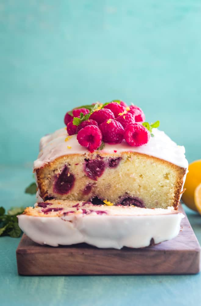 Raspberry Lemon Pound Cake
