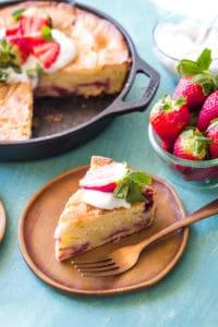 Strawberry Skillet Cake