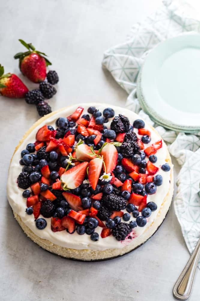 Berry topped Cheesecake