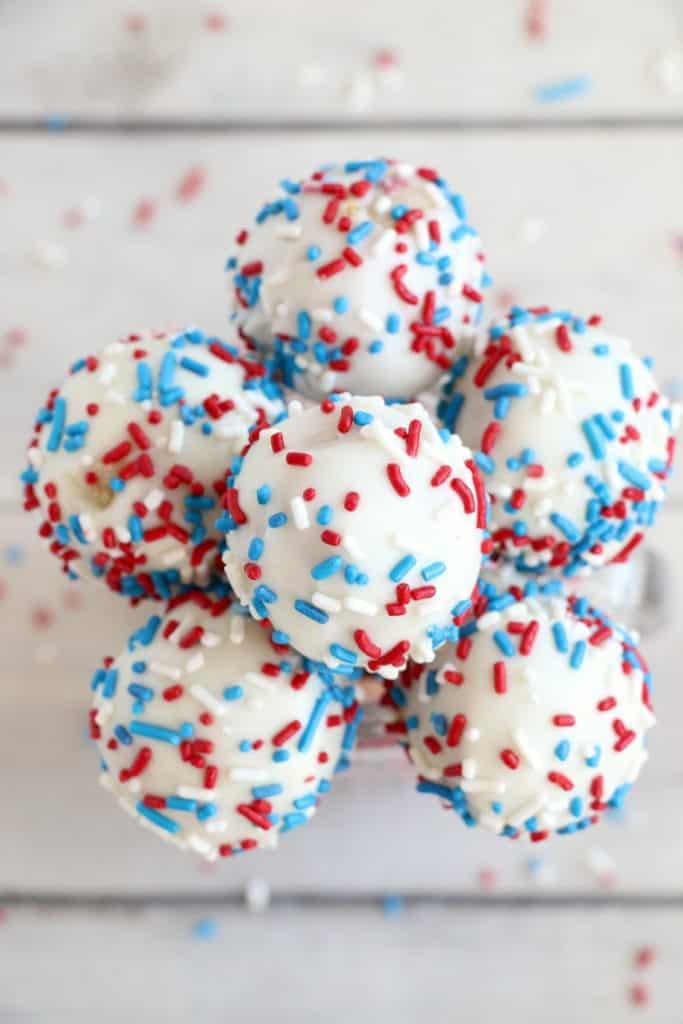 patriotic cake pops