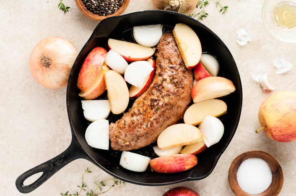 cooking pork tenderloin with apples