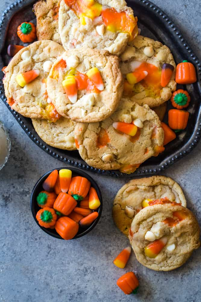 plate of Candy Corn Cookies