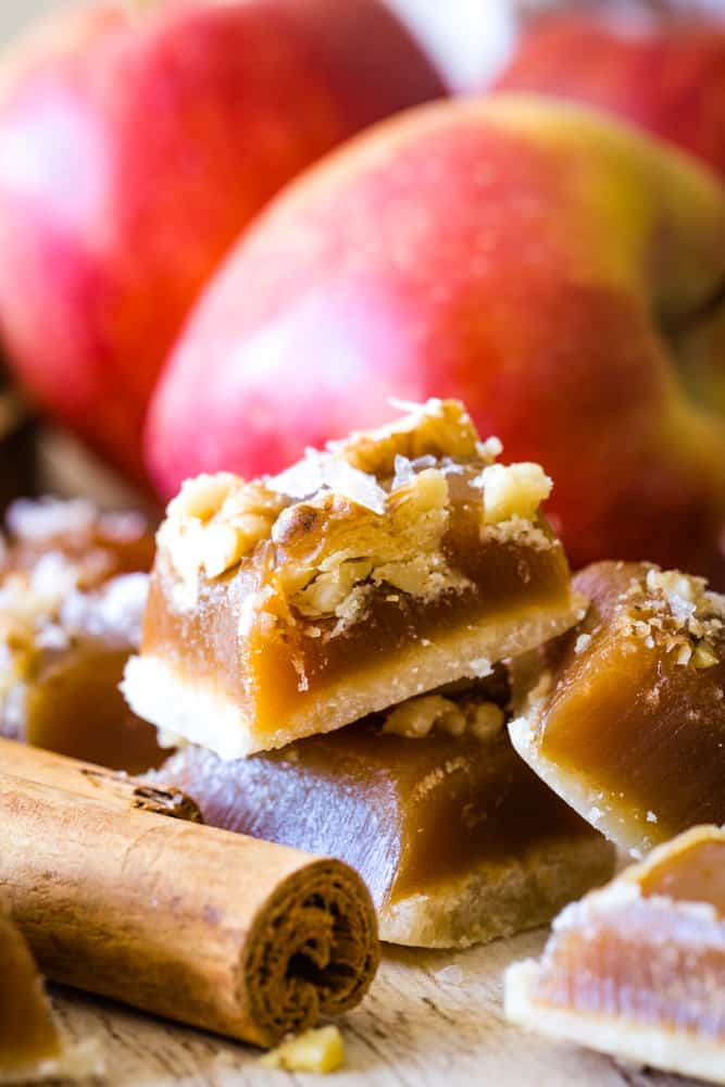 apple caramel recipe squares
