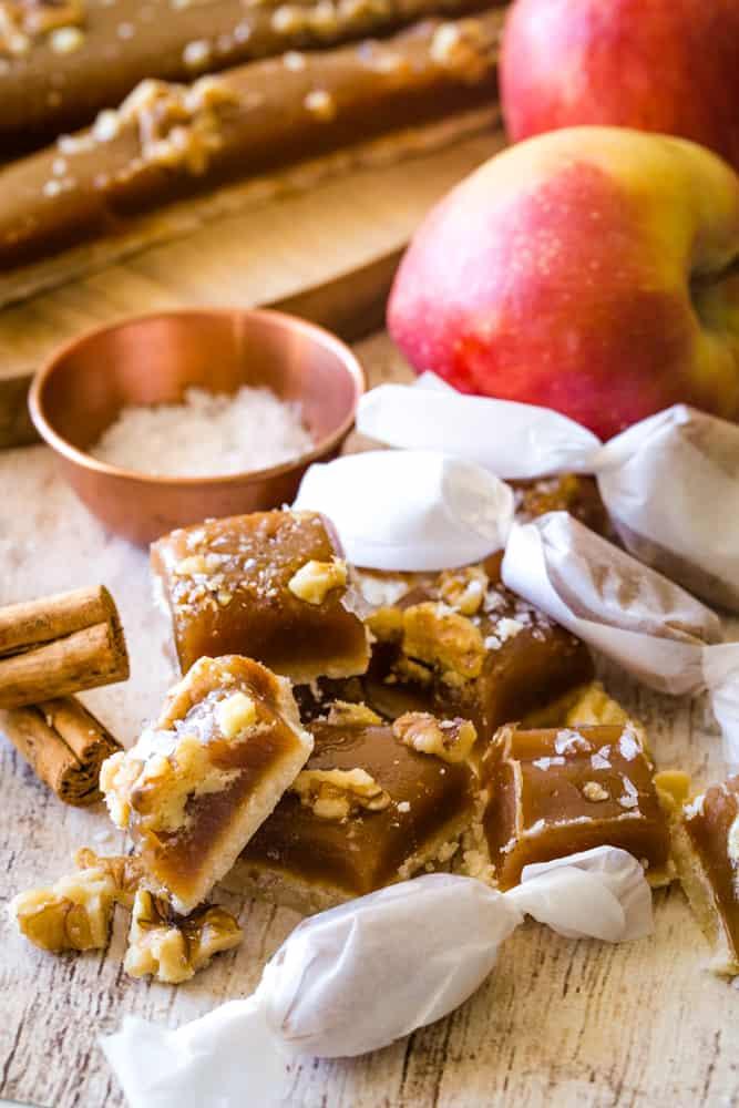 individual apple caramels