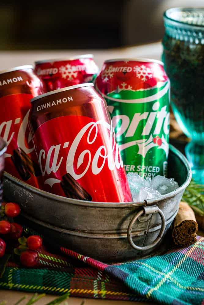 holiday coke flavors in a bucket