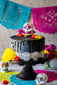 This Day of the Dead Cake decadent and delicious and perfect for the chocolate lover!
