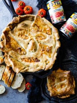 large face pie dip in skillet