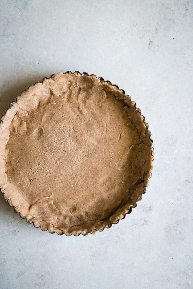 linzer torte recipe dough in tarte pan