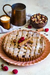linzer torte recipe on serving plate