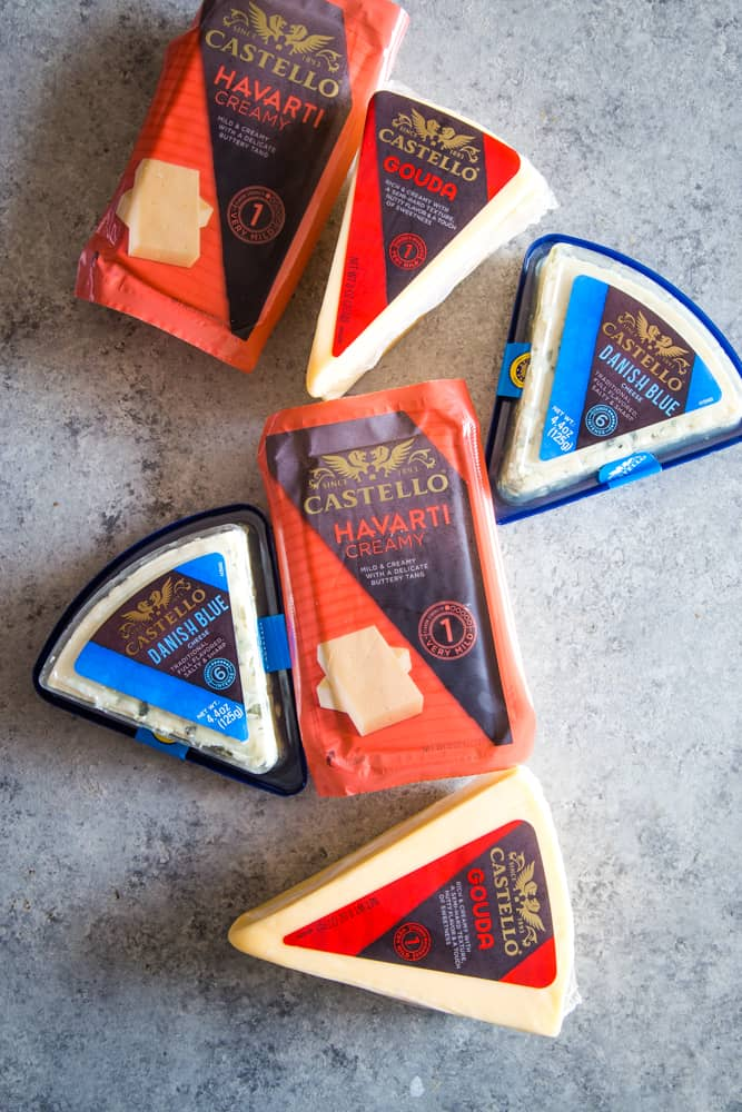 assortment of castello cheeses