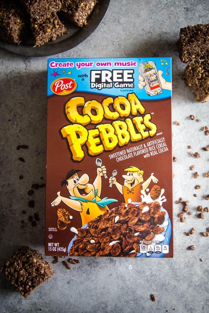 box of cocoa pebbles