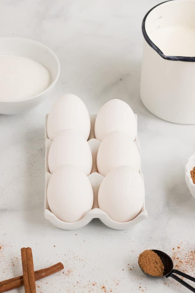 ingredients for classic eggnog recipe