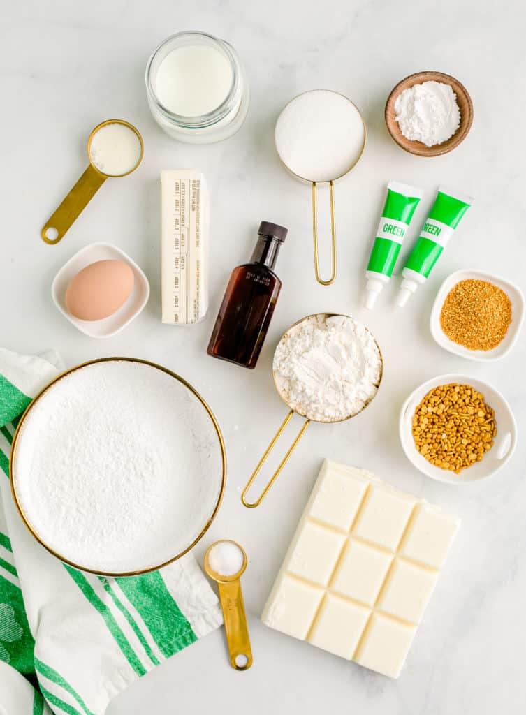 ingredients to make green cake pops