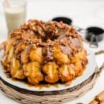 monkey bread in a white plate with white background