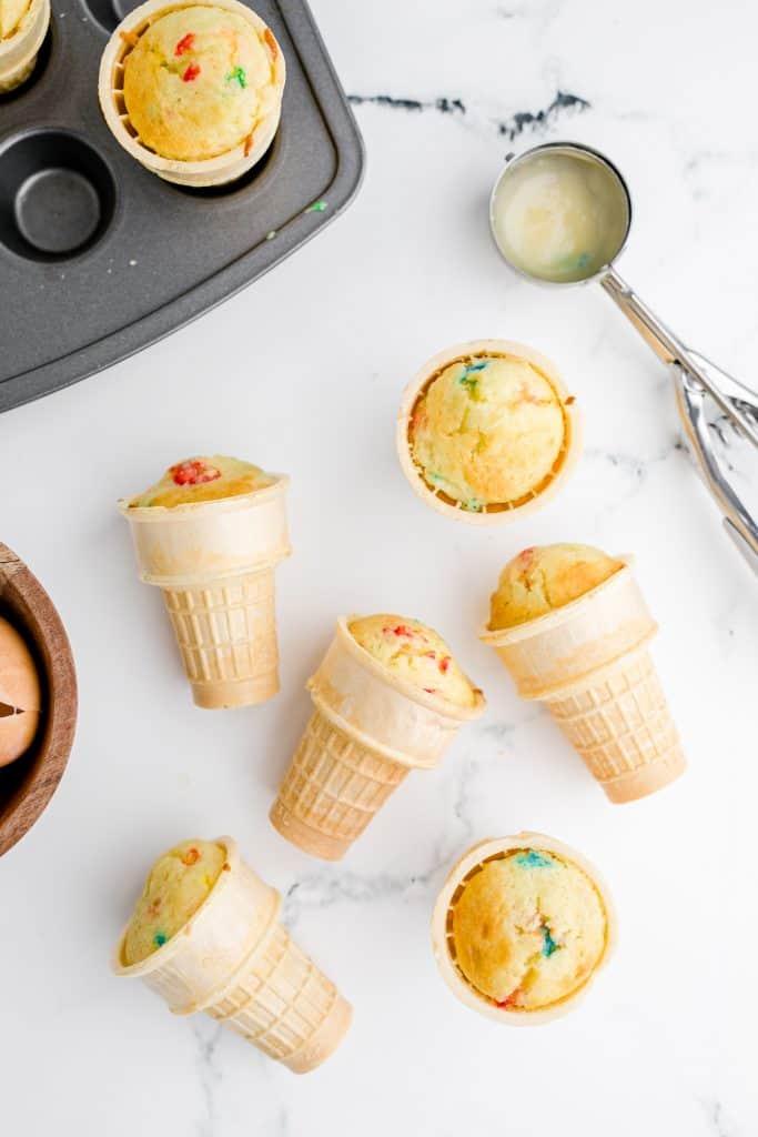 baked ice cream cone cupcakes