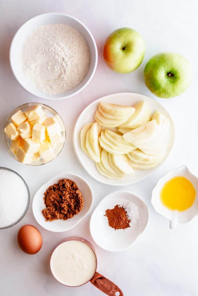 ingredients to make apple galette