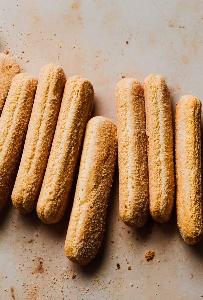 lady fingers on beige background