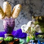 shot of all 4 no-bake halloween treats