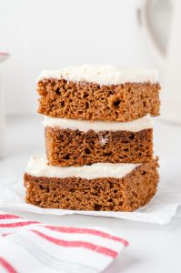 stacked gingerbread cookie bars